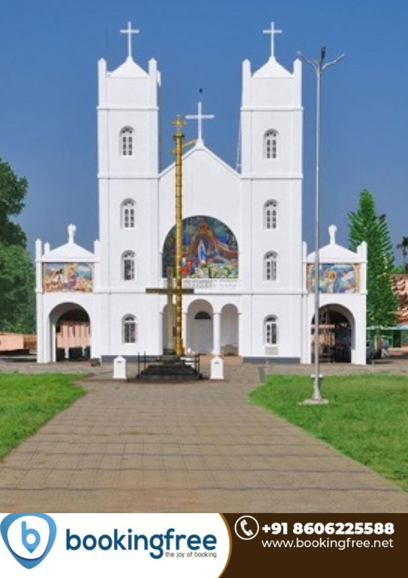 Shrine Lourde Matha Pallikkunnu Church Wayanad